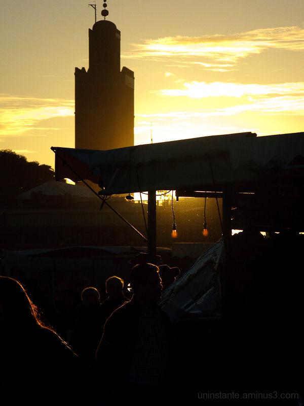 Marrakeck, sunrise, atardecer, contraluz
