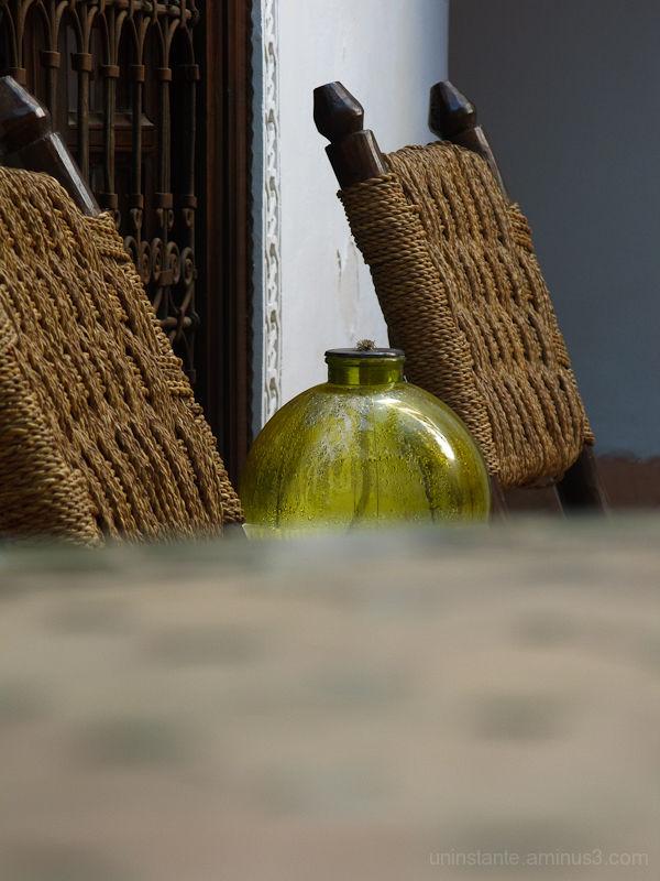 Chair, details, glass, blur, riad