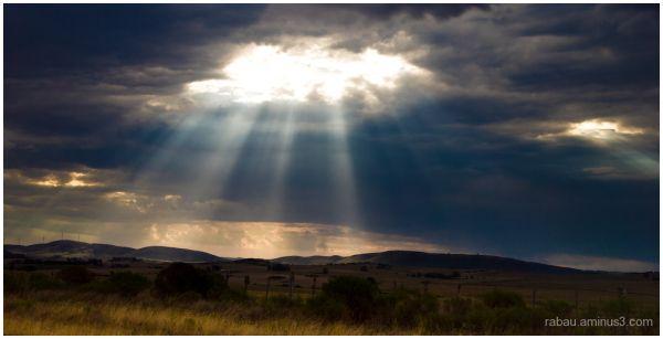 light through clouds