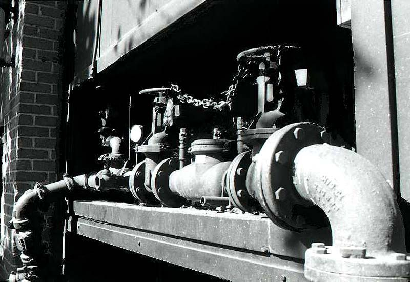 Pipes Outside a San Francisco Restaurant