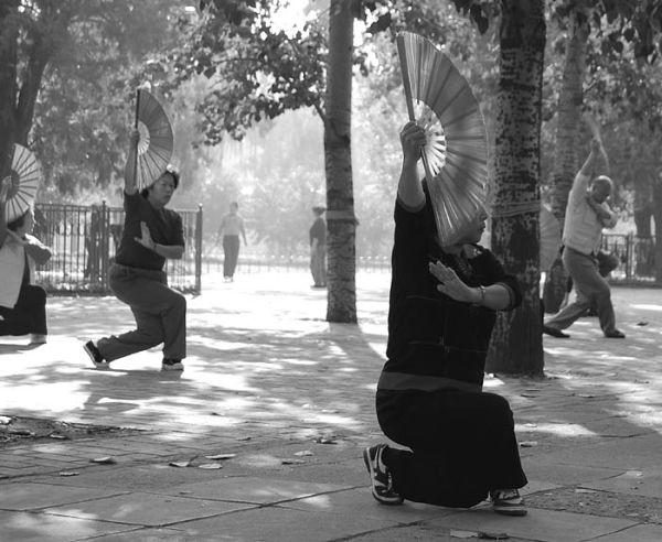 Fan Dancing in Beijing
