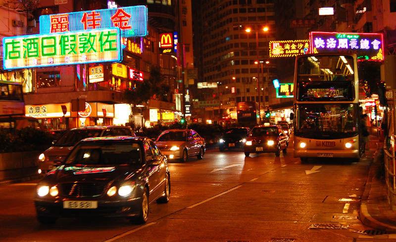 Hong Kong Night Traffic