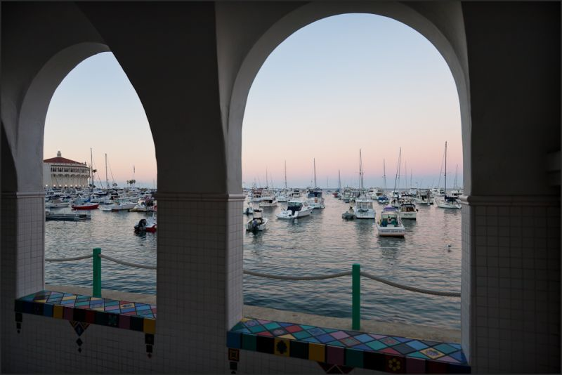 Avalon Casino and bay through Arch