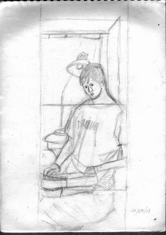 Drawn Autoportrait of NBrack