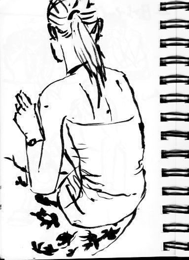 Sketch of Belgian girl