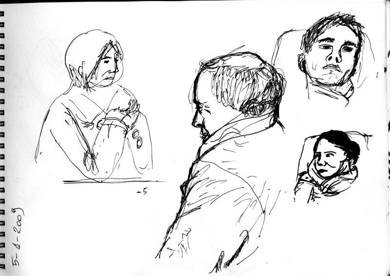sketch of people