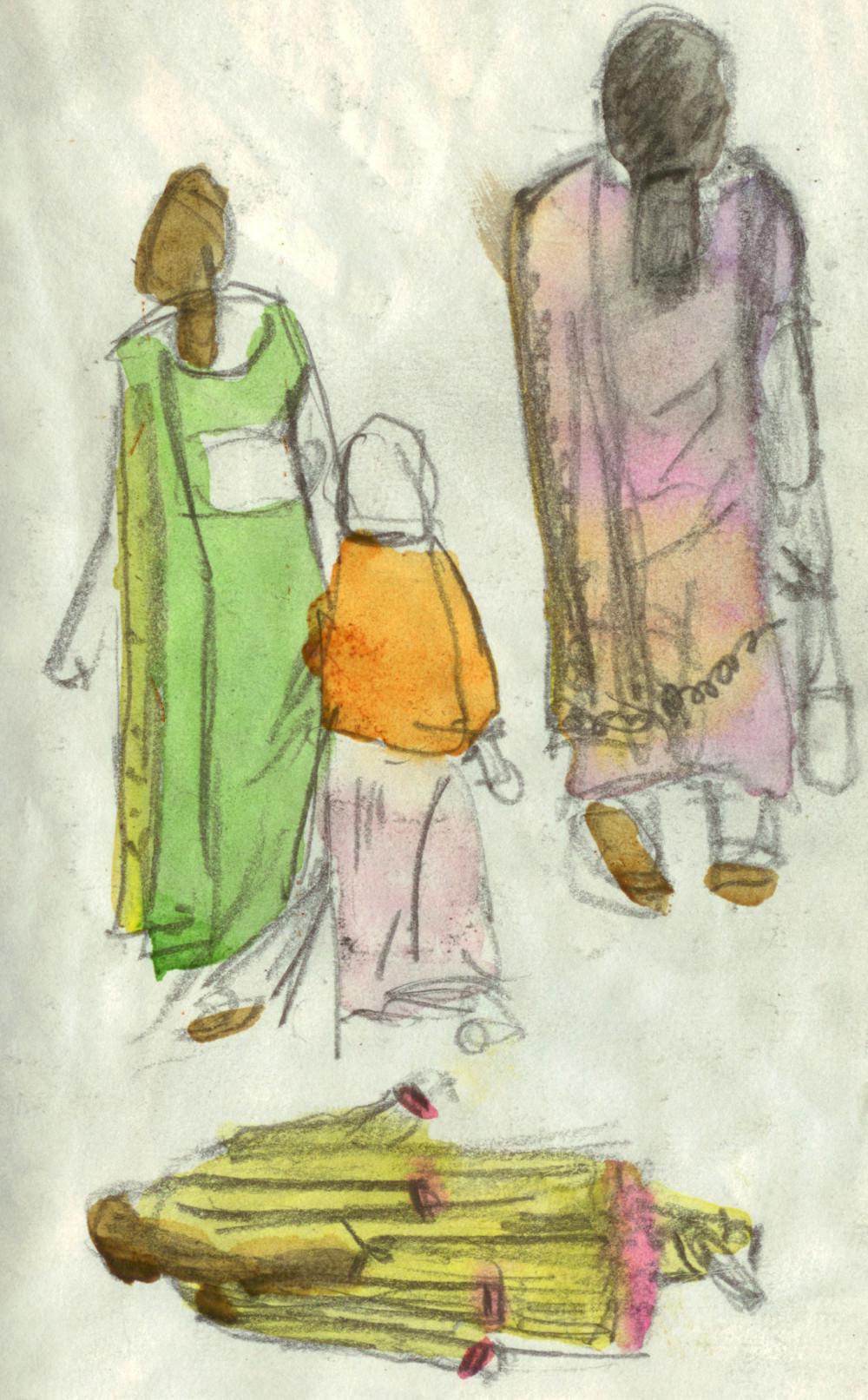 Ladies during Shivaratri