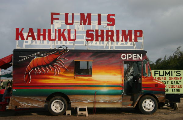 Fumis Shrimp Truck, North Shore Oahu