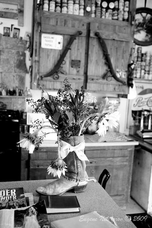 Boots & Flowers, ghost town