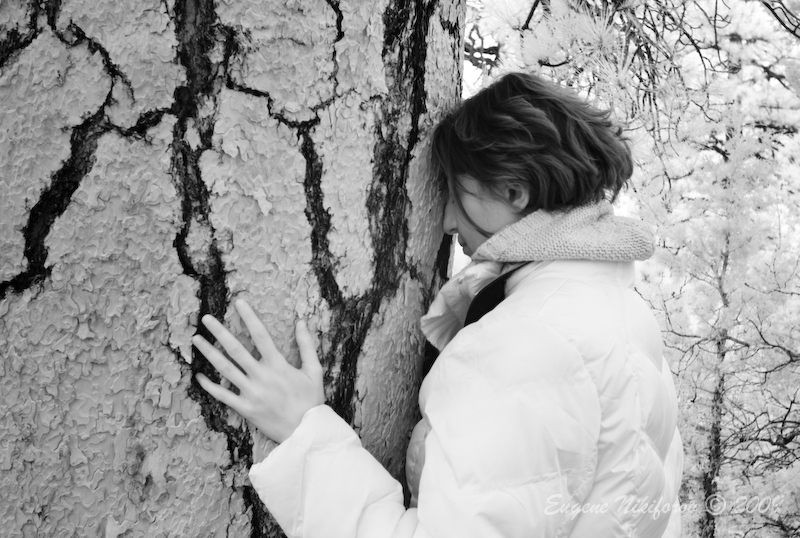 Woman & Tree (infrared)