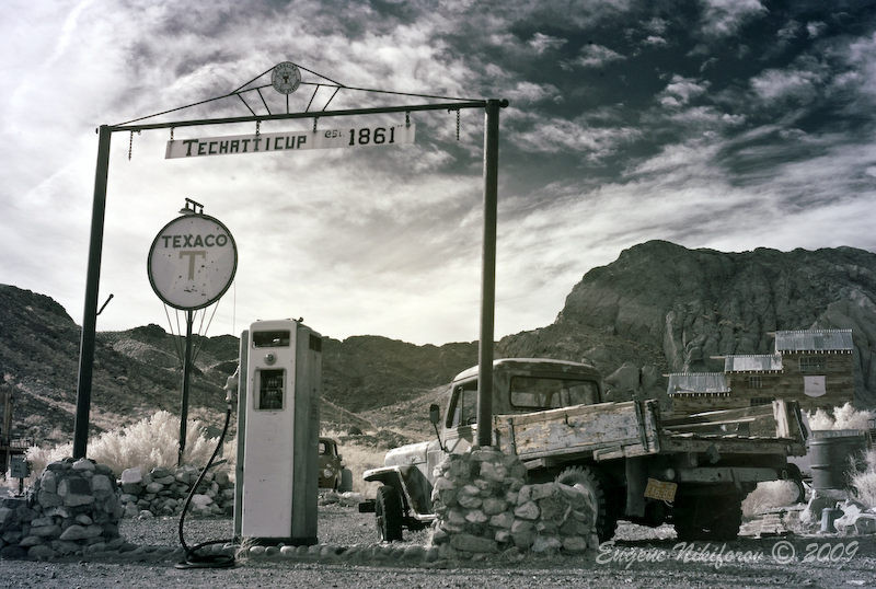Techatticup ghost town, Nevada (infrared)