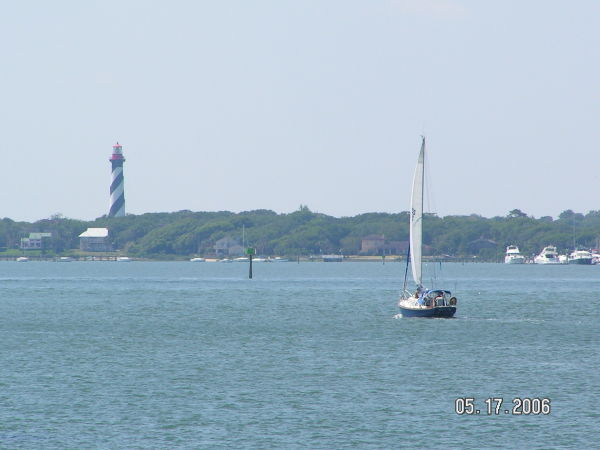 A sailboat on the Intracoastal Waterway
