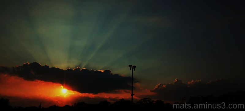 sunset,rice stadium