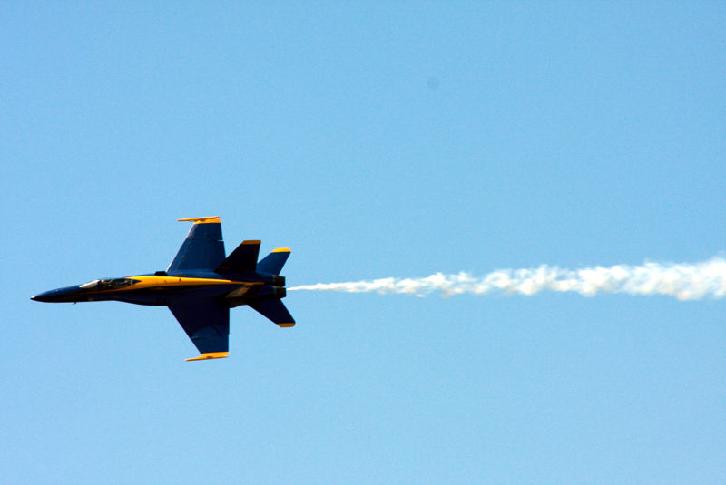 one of the blue angels in a fly by seafair 2008