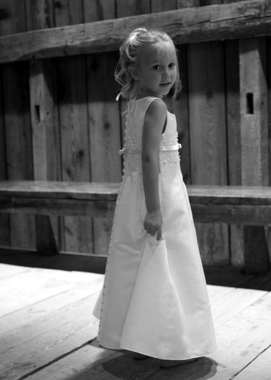 hope in her flower girl dress #2