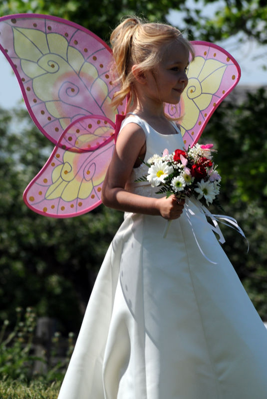 hope as a butterfly flower girl