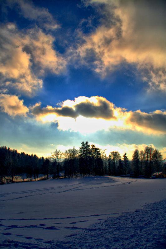 snow, winter, germany, harz, sky, clouds