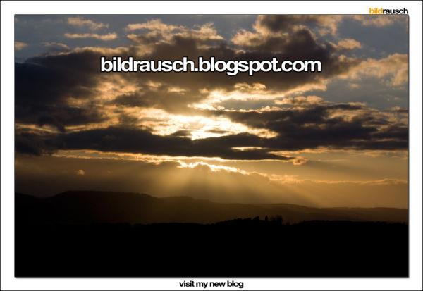 sunset, harz, mountains, sun, sky, clouds