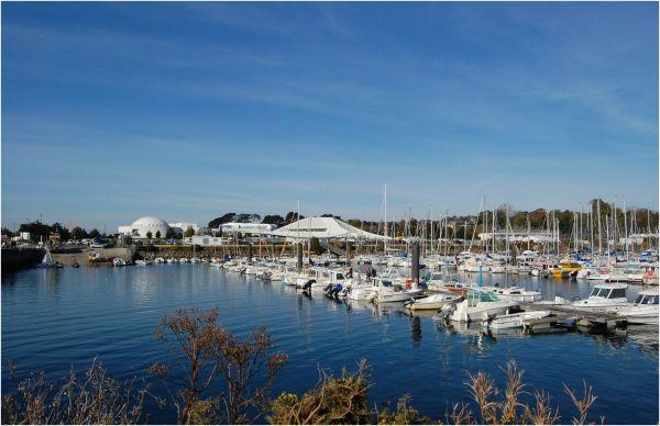 Le port de plaisance et Océanopolis - Brest