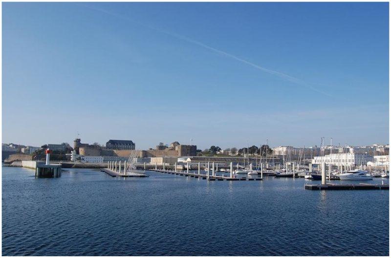 La marina du château de Brest