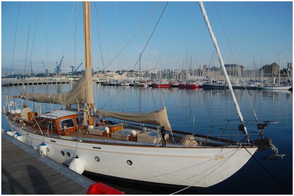 Le port du château à Brest