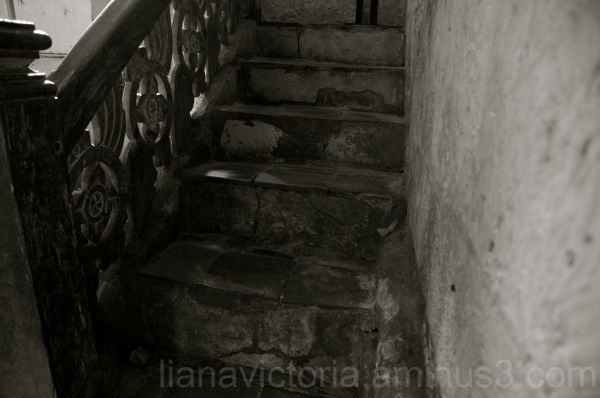 stairway in a church