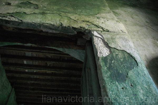 moldy doorway
