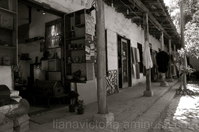 market in a chilean courtyard