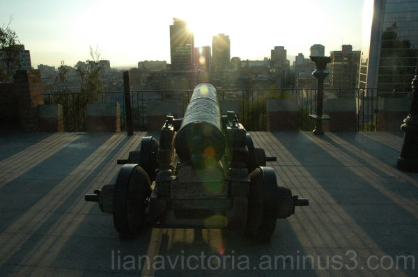 cannon in the city park