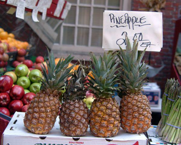 Pineapple at Open Market