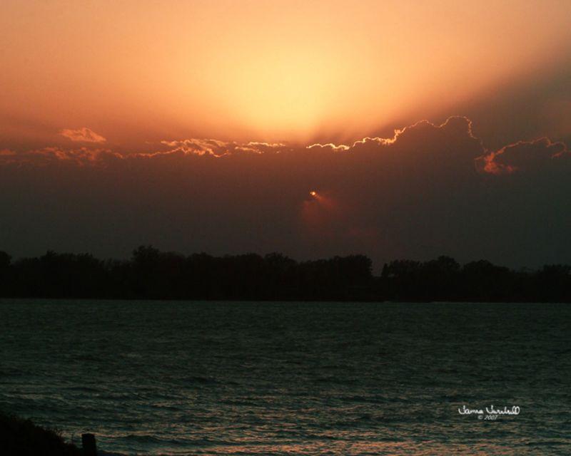 Sunset at Lake Maloney