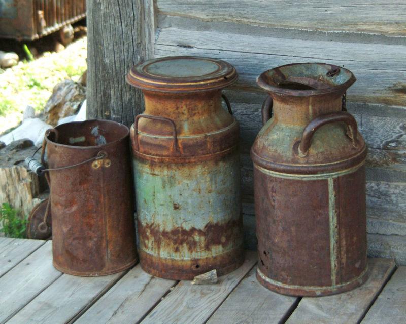 Antique Cream Cans