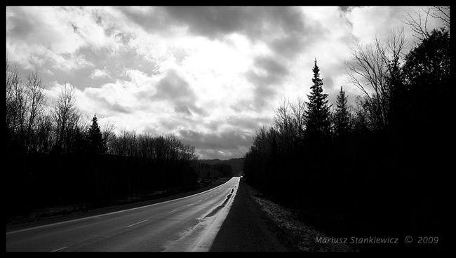 Canada - dreary road
