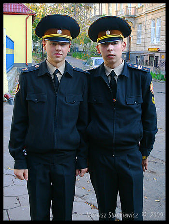 Ukraine - L'wow, police trainees