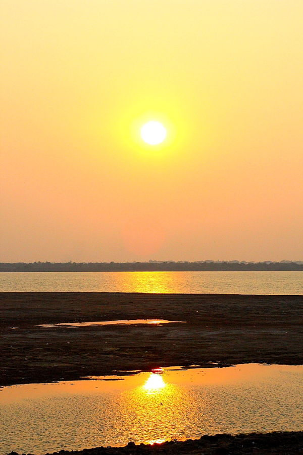Sunset on a River Godavari