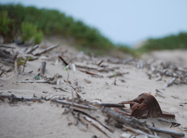 sandal on a beach