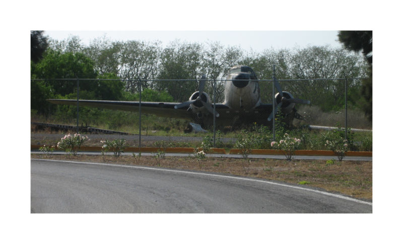 A picture of a clipped wing DC-3