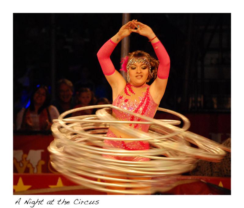 A hoop girl at the circus