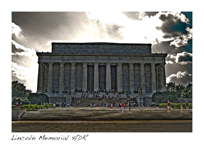 An HDR of the Lincoln Monument