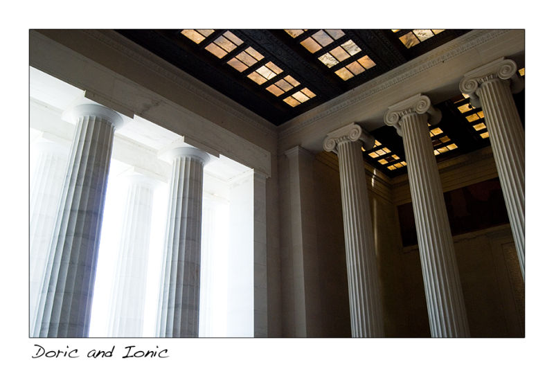 A picture of columns