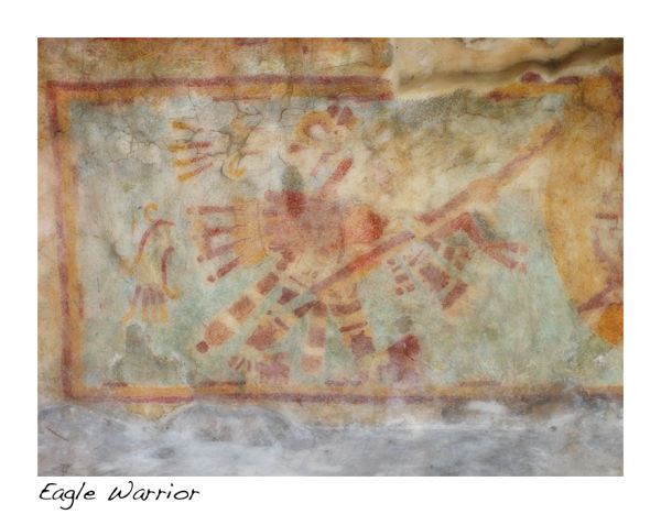 A mural of the eagle warrior