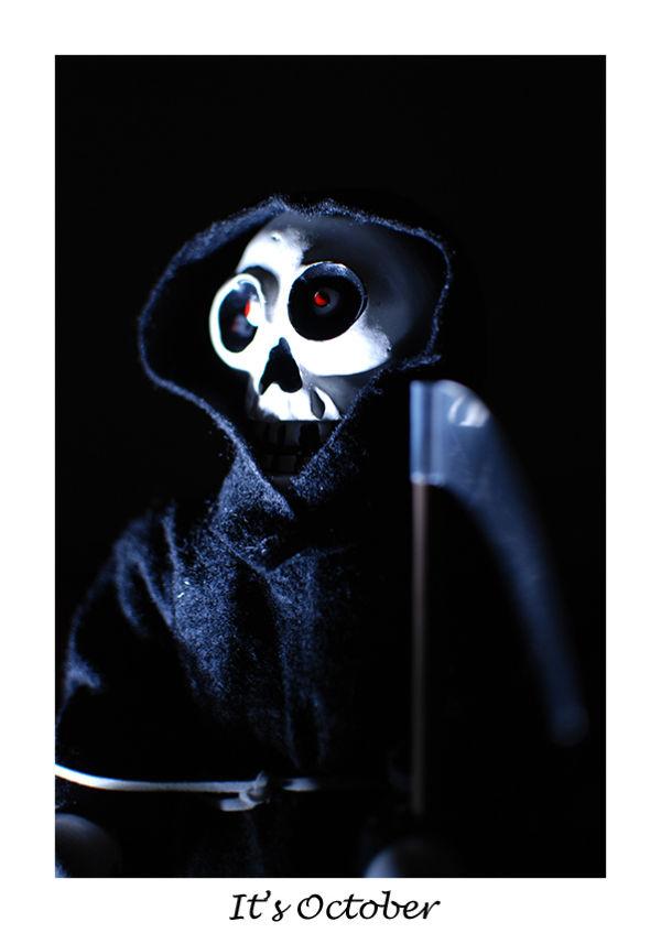 A picture of a Grim Reaper nutcracker