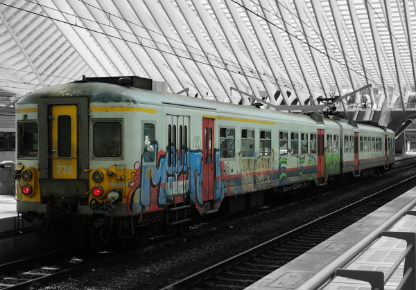 A picture of a train in Liege