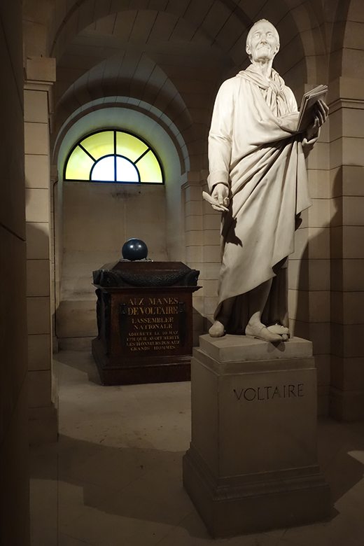 A picture of Voltaire's Tomb in Paris