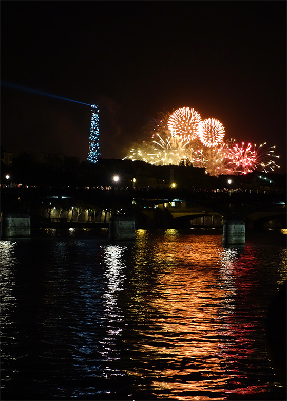A picture of Paris during Bastille Day 2013