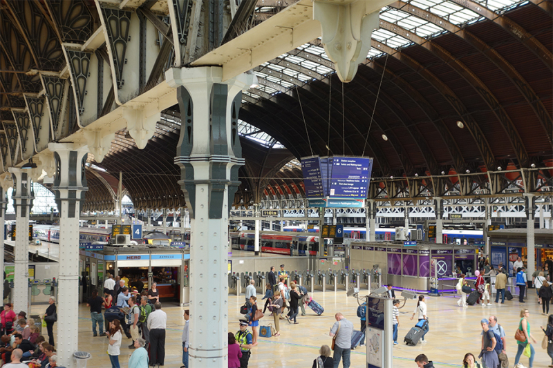 A picture of Paddington Station in London