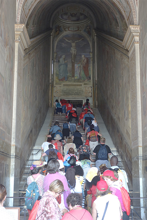 A picture of the Holy Stairs in Rome