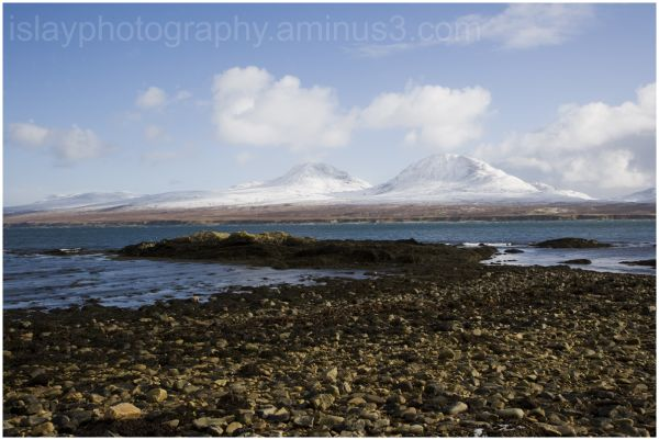Snowfall on the Paps of Jura