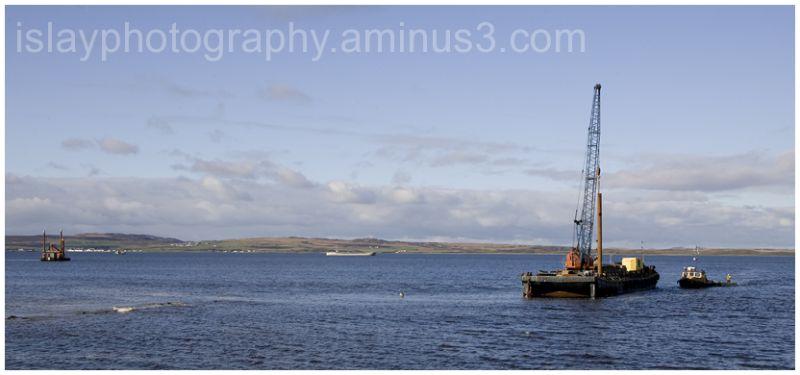 Marine activity in Lochindaal