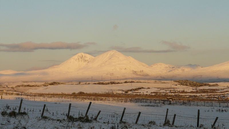 Snow Covered Paps of Jura